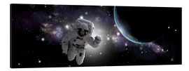 Cuadro de aluminio  Astronaut floating in outer space - Marc Ward
