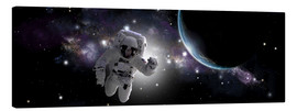 Lienzo  Astronaut floating in outer space - Marc Ward