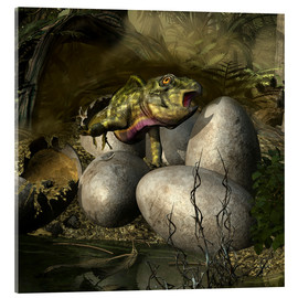 Metacrilato  Udanoceratops hatching out of an egg. - Kurt Miller