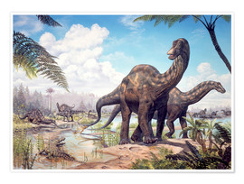 Póster  Large Dicraeosaurus sauropods from the Late Cretaceous of Africa.. - Mark Hallett