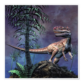 Póster  Monolophosaurus was a theropod dinosaur from the Middle Jurassic period. - Philip Brownlow