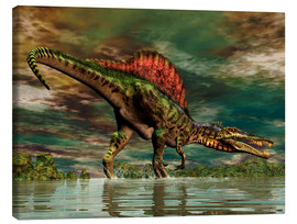 Lienzo  Spinosaurus from the Cretaceous period - Philip Brownlow