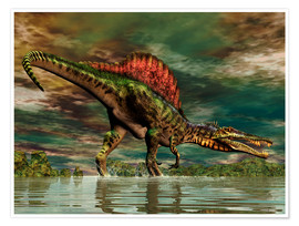 Póster  Spinosaurus from the Cretaceous period - Philip Brownlow
