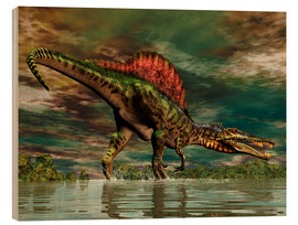 Cuadro de madera  Spinosaurus from the Cretaceous period - Philip Brownlow