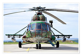 Póster  Slovakian Mi-17 with digital camouflage and gun pod. - Timm Ziegenthaler