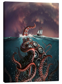Lienzo  A fantastical depiction of the legendary Kraken. - Jerry LoFaro