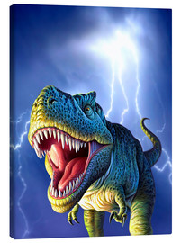 Lienzo  T.Rex in the storm - Jerry LoFaro