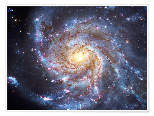 Póster Messier 101, The Pinwheel Galaxy in Ursa Major.