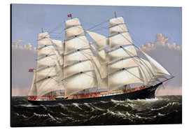 Cuadro de aluminio  Vintage print of the Clipper ship Three Brothers. - John Parrot