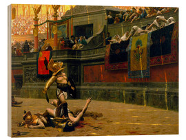 John Parrot - gladiator with his defeated opponent