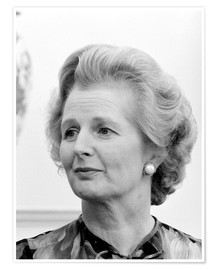 Póster Vintage photo of Margaret Thatcher.