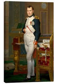 Lienzo  Vintage painting of The Emperor Napoleon in his study. - John Parrot