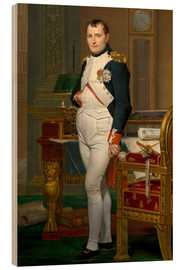 Cuadro de madera  Vintage painting of The Emperor Napoleon in his study. - John Parrot