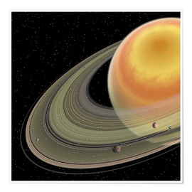 Póster Artist's concept of planet Saturn.