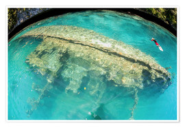 Póster Shipwreck in Palau's inner lagoon