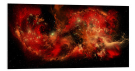 Cuadro de PVC  A large red nebula covering a huge region of space. - Corey Ford