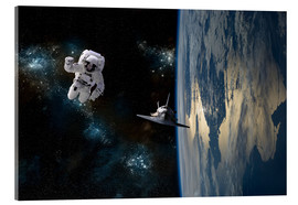 Metacrilato  An astronaut drifting in space is rescued by a space shuttle orbiting Earth. - Marc Ward