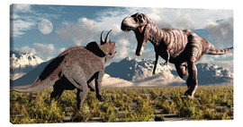 Mark Stevenson - Tyrannosaurus Rex and Triceratops meet for a battle to the death.