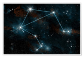 Póster Artist's depiction of the constellation Libra the Scales.