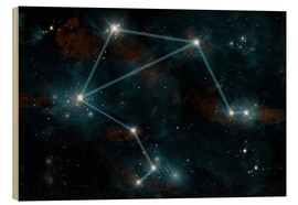 Cuadro de madera  Artist's depiction of the constellation Libra the Scales. - Marc Ward