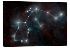 Lienzo  Artist's depiction of the constellation Aquarius the Water Bearer. - Marc Ward