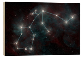 Cuadro de madera  Artist's depiction of the constellation Aquarius the Water Bearer. - Marc Ward