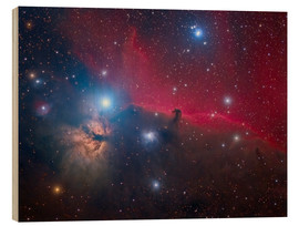 Cuadro de madera  The Horsehead Nebula and Flame Nebula - Roberto Colombari