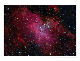 Póster Messier 16, The Eagle Nebula in Serpens.