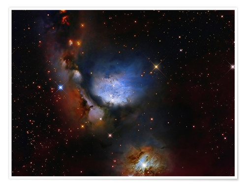 Póster Messier 78, a reflection nebula in the constellation Orion.