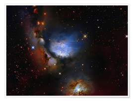 Póster  Messier 78, a reflection nebula in the constellation Orion. - Roberto Colombari