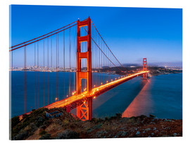 Metacrilato  Night shot of the Golden Gate Bridge in San Francisco California, USA - Jan Christopher Becke
