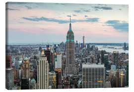 Lienzo  Manhattan skyline with Empire State building at sunset, New York city, USA - Matteo Colombo