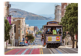 Cuadro de metacrilato  Cable car on a hill in the streets of San Francisco, California, USA - Matteo Colombo