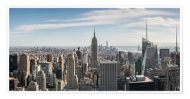 Póster  Manhattan skyline with Empire State Building - Matteo Colombo
