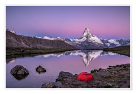 Póster  Sunrise at Matterhorn - Valais, Switzerland - Achim Thomae
