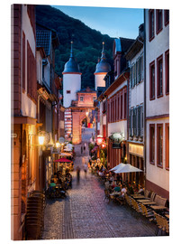 Jan Christopher Becke - Romantic Old Town at night in Heidelberg, Germany