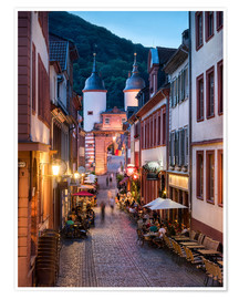 Póster  Romantic Old Town at night in Heidelberg, Germany - Jan Christopher Becke