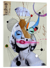 Cuadro de metacrilato  marylin for the abstract thinker - Loui Jover