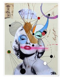Póster marylin for the abstract thinker