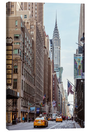 Lienzo  Road at the Chrysler Building - Matteo Colombo