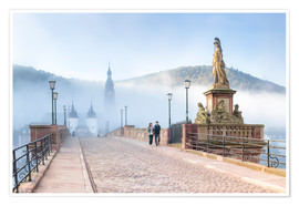 Póster  Karl Theodor Bridge and Old Town in Heidelberg, Germany - Jan Christopher Becke