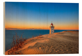 Cuadro de madera  Lighthouse in the dunes - Reemt Peters-Hein