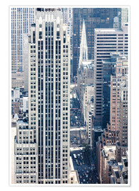 Póster Elevated view of 5th avenue, Manhattan, New York city, USA