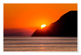 Póster Sunset in Cinque Terre