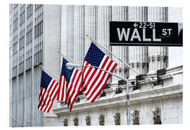Cuadro de metacrilato  New York Stock Exchange, Wall street, New York city, USA - Matteo Colombo