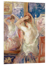 Cuadro de PVC  In front of the mirror - Berthe Morisot