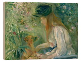 Cuadro de madera  Girl with Dog - Berthe Morisot