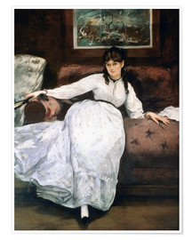 Póster The rest or Portrait of Berthe Morisot