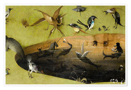 Póster  Garden of Earthly Delights, Paradise (detail) - Hieronymus Bosch