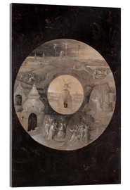 Cuadro de metacrilato  The divine sun face with the passion of Christ - Hieronymus Bosch
